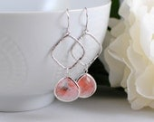 The Breeana Earrings - Grapefruit