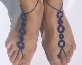 Circle Barefoot Sandals / Slave Bracelet