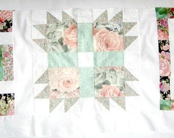 Set of Three Vintage Quilt Blocks, Independence Square Block, Hand of Friendship Block, Vintage Sampler Quilt Blocks,