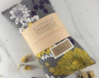 Organic flax seed heat pack