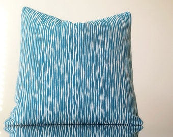 Designer pillow, Turquoise and ivory - Select your size at checkout - Akana weave  turquoise  Select your custom pillow size during checkout