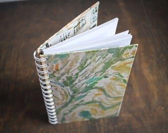 """Upcycled Sketchbook Tartuensis College """"Mediterranean"""", Wire Bound Journal"""