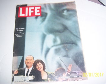 September 4 1964 Life  LBJ Lyndon Baines Johnson Lady Bird Magazine