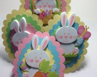 4 Bunny EASTER TAGS, Gift Tags, Scrapbooking Tags, EASTER
