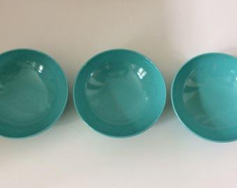 SALE / Melamine robbin egg blue bowl set 70's