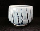 ChingWenArts Studio Pottery porcelain Japanese Tea Bowl Water container, Blue, Signed, #E039