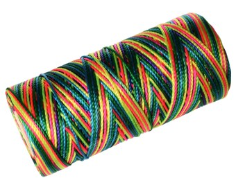 Crochet Cord, Nylon Thread 1 SPOOL, Micro Macrame Thread (not waxed) - Multicolor Neon