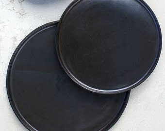 Metallic Black - Salad Plate