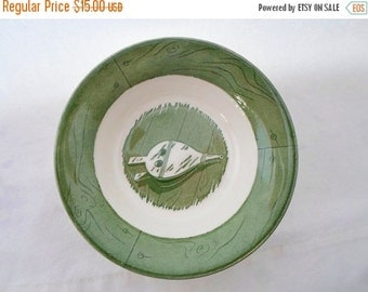 ON SALE Vintage, Berry Bowl, Colonial Homestead, Green & White, Set of 4, Royal, USA, Cottage Chic, Bowl, Serving