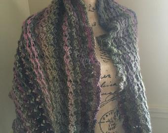 Crochet Womens Shawl Wrap, Prayer Shawl
