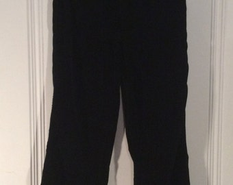 1980's Gloria Vanderbilt Black Velour Pants