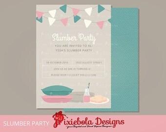 Slumber Party Invitation/Birthday