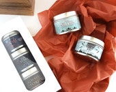 2oz Candle Tin Set // 3pc Gift Set // Scented Soy Candles from IceyDesigns