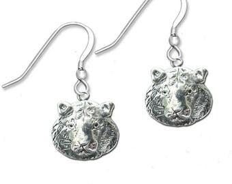 Sterling Silver Tiger  Earrings