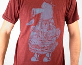 FREE SHIPPING - Philadelphia Phanatic  -- Paul Carpenter Art -- Unisex Philly Artist Print Tee Shirt