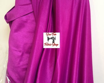 Magenta Spandex Lycra . . . Nylon Stretch Fabric...great for costumes, dance, theater, formal wear, pageant.