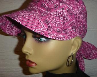 Womens Sun Hat,Chemo Hat,Chemo HeadwearSunVisor,Cancer Headwear,Chemo Cap,Alopecia,Scarf Hat,Scarf Visor, Visor,Do Rag Visor,Womens Hat
