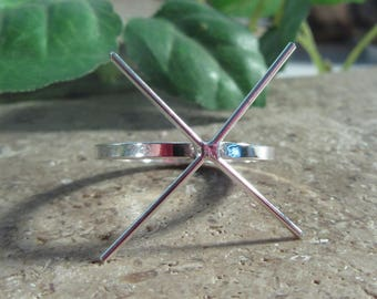 Claw Ring Blanks 16 Gauge Square Sterling Silver with 4 ROUND prongs- Silver Claw Ring, Sterling Silver Ring Blank,Raw Stone Blank