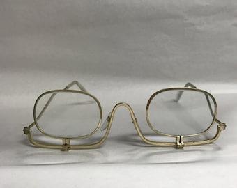 Gold make up vintage eyeglass frame
