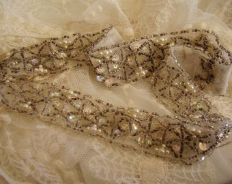 Vintage Beaded Sequin Trim/Sewing supply