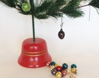 15 Vintage Feather Tree Mercury Glass Ornaments, Lot of 15 Set 1, Small Multi Color Balls, Great Patina