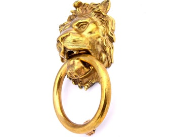Huge Antique Lion Door Knocker