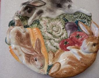 FITZ & FLOYD RABBIT Plate---