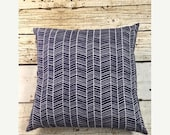 10% OFF SALE Navy Herringbone Pillow Cover for 18x18 pillow insert, woodland nursery, arrow, deer, crib skirt boy, ships in 1 business day
