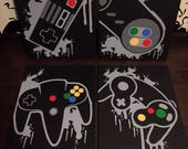 Splatter Controller Art-4 Canves Set