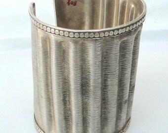 Vintage Antique Sterling 925 Silver Cuff Bracelet Bangle Rajasthan India