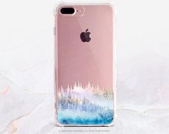 iPhone 8 Case iPhone X Case iPhone 7 Case Winter Forest Clear GRIP Rubber Case iPhone 7 Plus Clear Case iPhone SE Case Samsung S8 Case H7