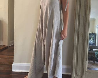 Womens Sand Linen Lover Overalls.Size 8 to 16.Free size.