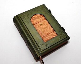 Leather journal, secret diary, book of secrets, secret door, Fairy tale -A Fairy's dream  8.2''x6'' (21x15 cm)