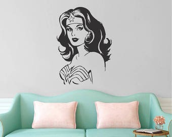 Wonder Woman Wall Art wonder woman wall | etsy
