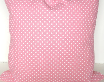 PINK Polka Dot PILLOWS PINK Throw Pillows Pink Polka Dots Pillow Covers 16 18x18 20 Baby pink Nursery Pink Pillows Baby Girl .Sale.