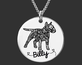 Bull Terrier Necklace | Bull Terrier Jewelry | Personalized Dog Necklace | Personalized Gifts | Korena Loves