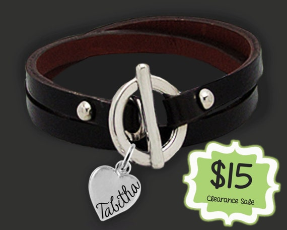 CLEARANCE SALE | Leather Wrap Bracelet | Personalized Leather | Daughter Gifts | Sister Gifts | Name Jewelry |  Korena Loves