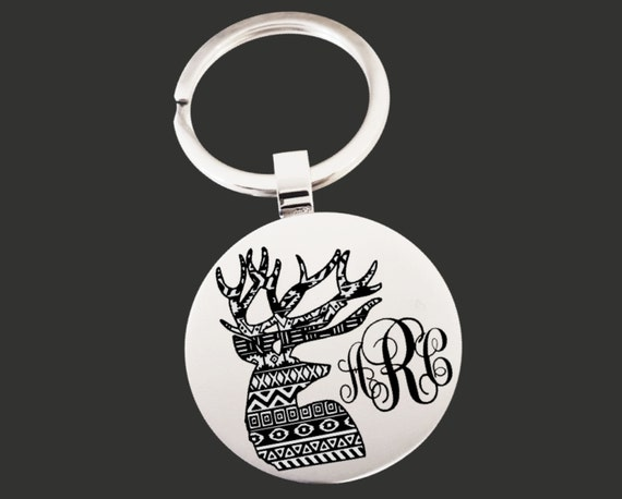 Deer | Stag | Monogram Keychain | Graduation Gift | Promotion Gift | Friend Gift | Custom Personalized Key Chain | Korena Loves