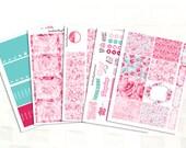 Erin Condren Lovely Roses Sticker Kit, Vinyl Stickers, Valentines Day