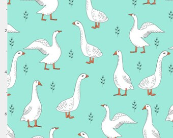 "Cloth Menstrual Pad Custom Minky ""Farm Goose"" Moderate or Heavy flow ~ Pick the Length ~ Eco Friendly ~ Vegan"