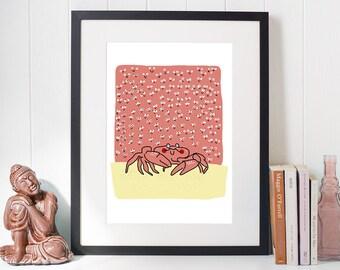 A4 Crab Print
