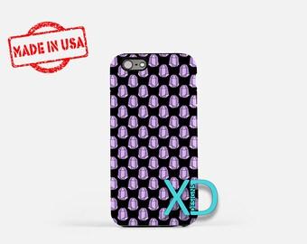 Purple Gem Phone Case, Purple Gem iPhone Case, Rock iPhone 7 Case, Violet, Rock iPhone 8 Case, Purple Gem Tough Case, Clear Case, Gemstone