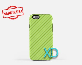 Light Green Phone Case, Light Green iPhone Case, Pinstripe iPhone 7 Case, Green, Pinstripe iPhone 8 Case, Light Green Tough Case, Clear Case