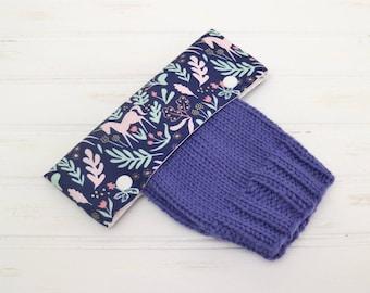 Unicorn Fabric DPN Holder, DPN Cozy, Knitting Needle Holder, Circular Needle Holder, 6 inch DPN Cozy