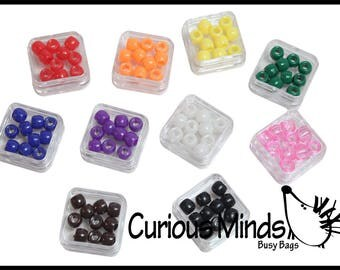 Color Sorting Bead Tower Busy Bag