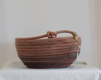 Red rope basket