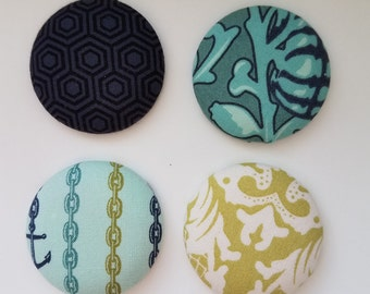 Fabric, Magnet, Aneela Hoey Fabric, Creative Magnets, Cool Magnet, Refrigerator Magnets, Magnetic Gifts, Magnet Gift, Gift Magnets, Designer