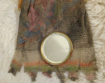 Vintage Whiting and Davis Bag with  Original Mirror