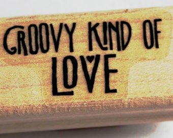Groovy Kind of Love Rubber Stamp retired from Stampin Up