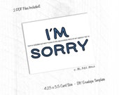 PRINTABLE Card, Sorry Card, Apology, I Suck, I'm Sorry, I Apologize, I Messed Up, Boyfriend, Girlfriend, Wife, Husband